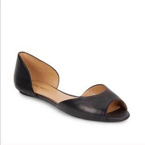 Nine West Bachelorette Black Leather Flat